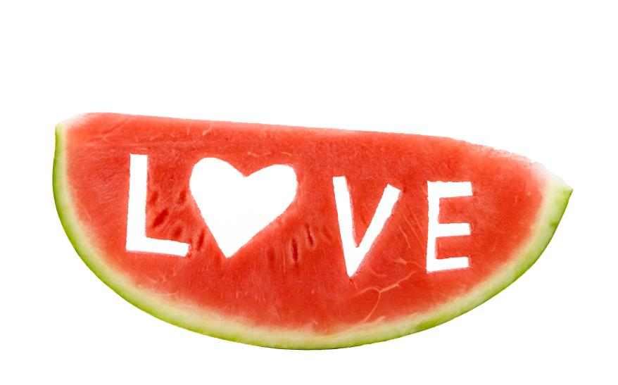Slice of Watermelon isolated on white